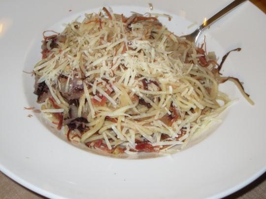 Parmesan drüber streuen und schmecken lassen!