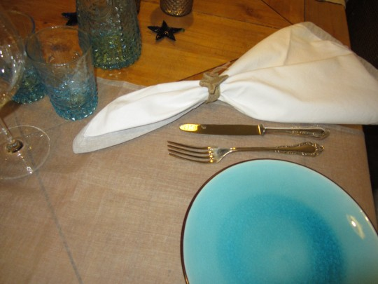Kleine Tisch-Deko - noch ohne Gäste;-)