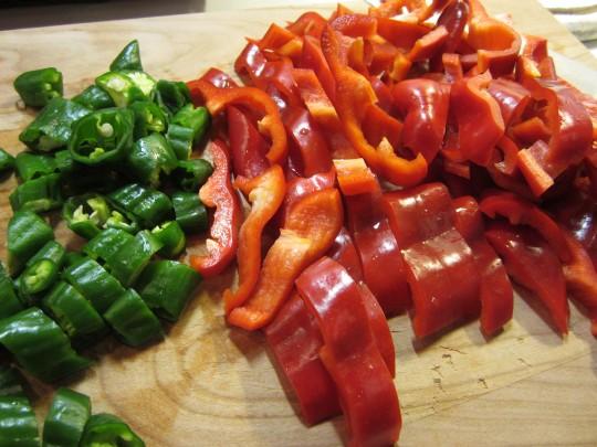 Mise en Place: Paprika und Pimentos