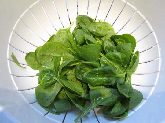 Spinat ist schnell zubereitet.