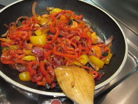 Hot! Variante 2 haben wir mit Chili und Knoblauch gebraten