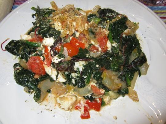 Gemüse mit Schafskäse! Schmeckt 100%