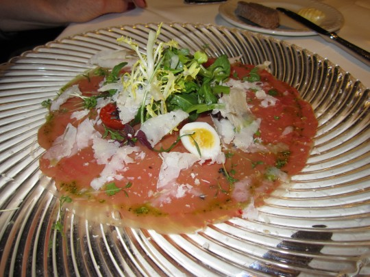 Das Carpaccio vom Jungrind - not too bad