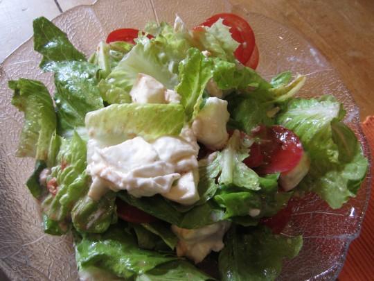 Mozzarella-Salat mit Feigen-Balsam, der hier für eine wunderbare Note sorgt.