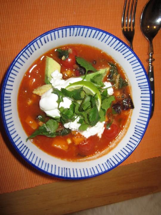 Nicht nur für Veggies: diese Suppe sieht wunderhübsch aus und schmeckt großartig!