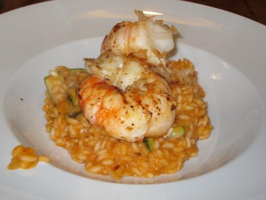 Unser pikantes Scampi-Shrimps-Risotto! Wir bedanken uns bei Salvo :-)