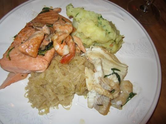 Sauerkraut mit frischen Fischen!