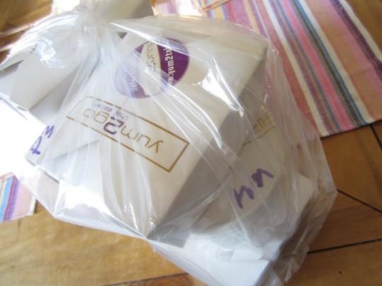Außen Plastik, innen alles recyclebar - ordentlich und appeitlich eingepackt