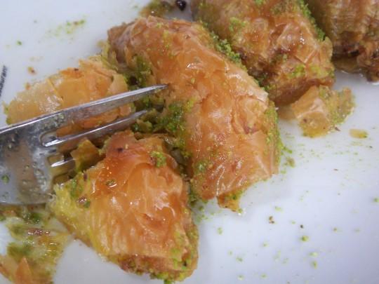 Baklava rundet dieses Menü ab.