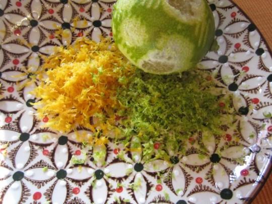 Orangen- und Zitronenabrieb
